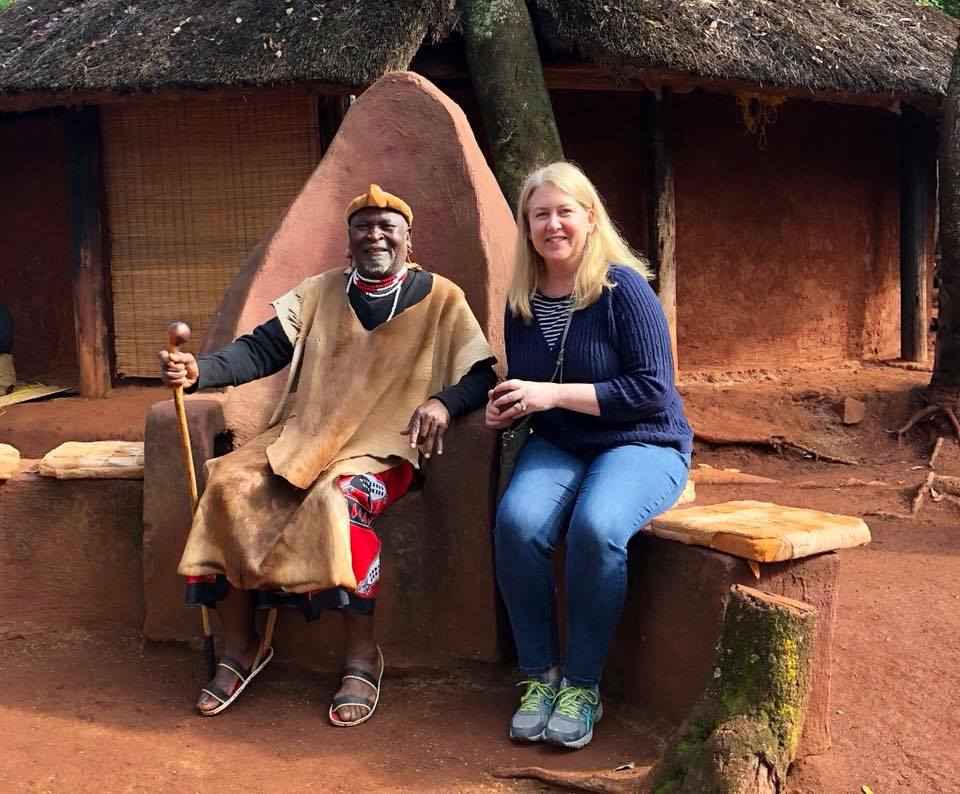 sitting with a villiage chief in south africa
