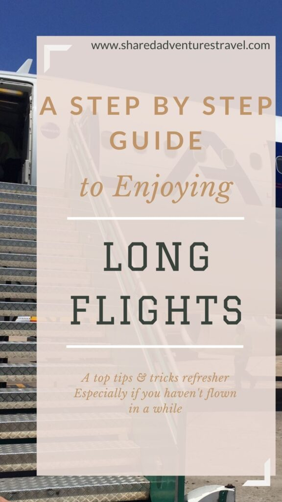 A Step By Step Guide to Enjoying Long Flights Pin
